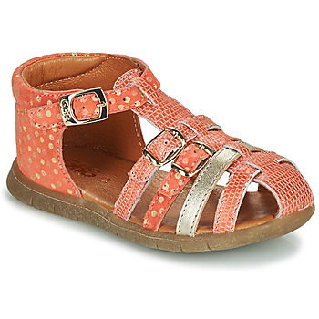 Sapatos Rapariga Sandálias GBB PERLE Coral / Ouro