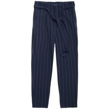 Textil Mulher Calças finas / Sarouels Teddy Smith  Azul