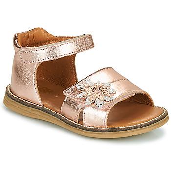 Sapatos Rapariga Sandálias GBB SATIA Dourado / Rosa