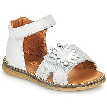 Sapatos Rapariga Sandálias GBB SATIA Branco / Prata