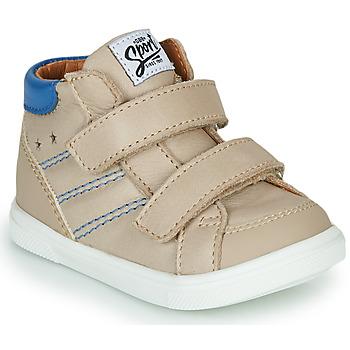 Sapatos Rapaz Sapatilhas de cano-alto GBB MORISO Bege