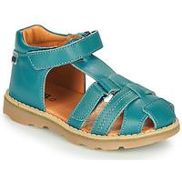 Sapatos Rapaz Sandálias GBB MITRI Azul / Pato