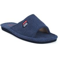 Sapatos Homem Chinelos Berevere Vá para casa cavalheiro  v 0102 azul Bleu