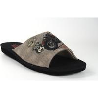 Sapatos Homem Chinelos Berevere Vá para casa cavalheiro  v 0103 preto Noir