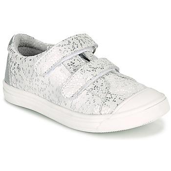Sapatos Rapariga Sapatilhas GBB NOELLA Branco / Prata