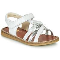 Sapatos Rapariga Sandálias GBB SUMY Branco / Prata