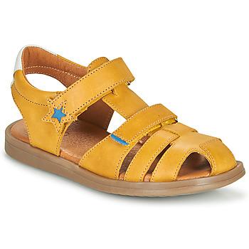 Sapatos Rapaz Sandálias GBB MARINO Amarelo