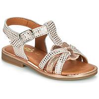 Sapatos Rapariga Sandálias GBB EGEA Branco / Rosa / Ouro