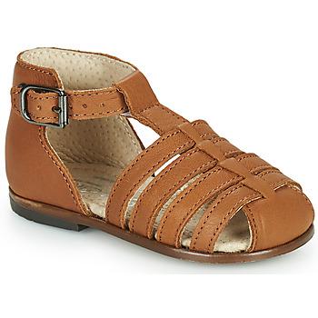 Sapatos Rapariga Sandálias Little Mary JULES Castanho