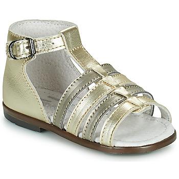 Sapatos Rapariga Sandálias Little Mary HOSMOSE Ouro