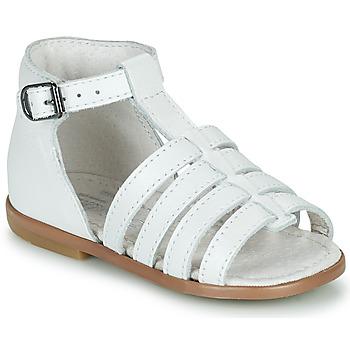 Sapatos Rapariga Sandálias Little Mary HOSMOSE Branco