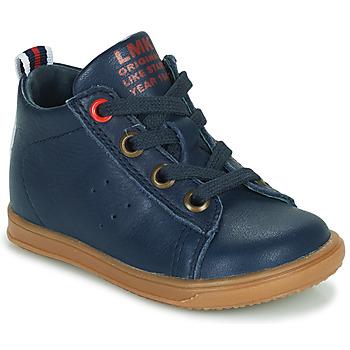 Sapatos Rapaz Sapatilhas de cano-alto Little Mary LEON Azul