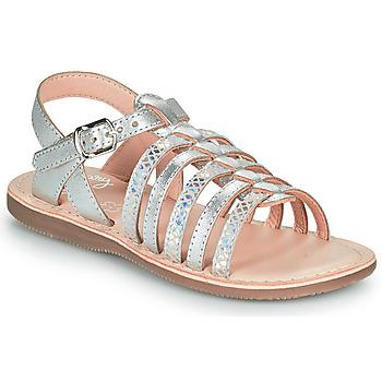 Sapatos Rapariga Sandálias Little Mary BARBADE Prata