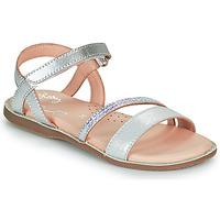 Sapatos Rapariga Sandálias Little Mary DOLERON Prata