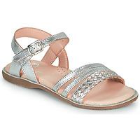 Sapatos Rapariga Sandálias Little Mary LIME Prata