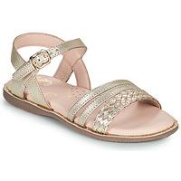 Sapatos Rapariga Sandálias Little Mary LIME Ouro