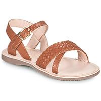 Sapatos Rapariga Sandálias Little Mary LIANE Castanho