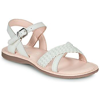 Sapatos Rapariga Sandálias Little Mary LIANE Branco