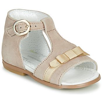 Sapatos Rapariga Sandálias Little Mary GAELLE Bege
