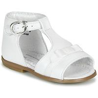 Sapatos Rapariga Sandálias Little Mary GAELLE Branco