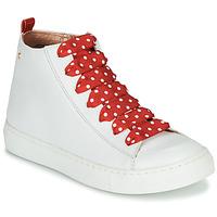 Sapatos Rapariga Sapatilhas de cano-alto Little Mary SASHA (VE014) Branco / Vermelho