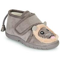 Sapatos Criança Chinelos Little Mary LIONVELCRO Cinza