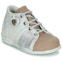 Sapatos Rapariga Botas baixas Little Mary VANILLE Prata / Toupeira