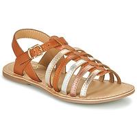 Sapatos Rapariga Sandálias Little Mary BARBADE Conhaque / Rosa