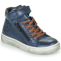 Sapatos Rapaz Sapatilhas de cano-alto Little Mary FIRST Azul