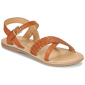 Sapatos Rapariga Sandálias Little Mary LIANE Conhaque