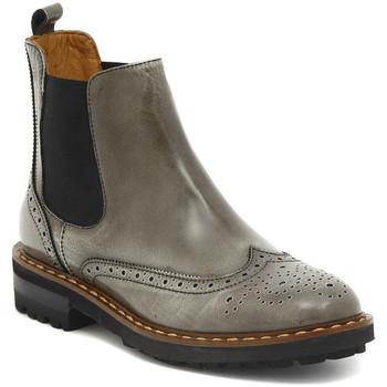 Sapatos Mulher Botas baixas Moda TRONCHETTO STILE INGLESE FUME Multicolore