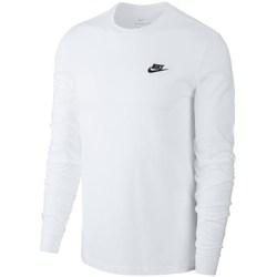 Textil Homem T-shirt mangas compridas Nike Club Tee Branco