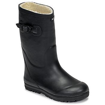 Sapatos Criança Botas de borracha Aigle WOODY POP FUR Marinho