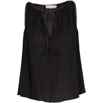 Textil Mulher Tops / Blusas See U Soon 20111143 Preto