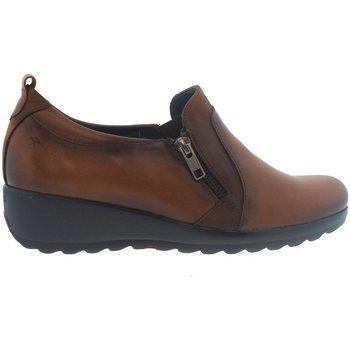 Sapatos Mulher Mocassins Fluchos Zapatos  F1069 Cuero Castanho