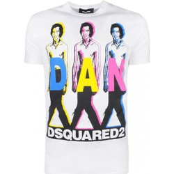 Textil Homem T-Shirt mangas curtas Dsquared S74GD0498 Branco
