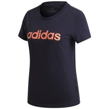 Textil Mulher T-Shirt mangas curtas adidas Originals W E Lin Slim T Preto