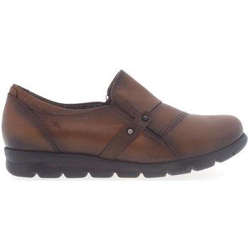 Sapatos Mulher Mocassins Fluchos Zapatos  F1079 Cuero Castanho