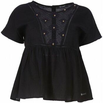 Textil Mulher Tops / Blusas Teddy Smith T-TAIS Preto