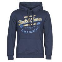 Textil Homem Sweats Jack & Jones JJEJEANS Marinho