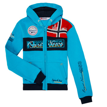 Textil Rapaz Sweats Geographical Norway FLYER BOY Turquesa
