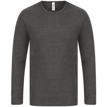 Textil Homem T-shirt mangas compridas Absolute Apparel  Carvão vegetal