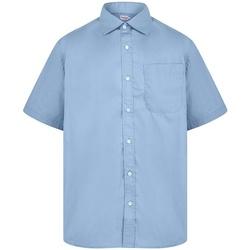 Textil Homem Camisas mangas curtas Absolute Apparel  Azul claro