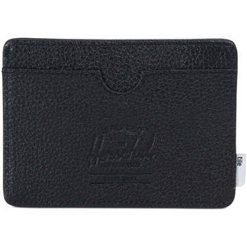 Malas Carteira Herschel Charlie + Tile Black Pebbled Leather