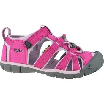 Sapatos Criança Sandálias desportivas Keen Seacamp II Cnx JR Cinzento, Cor-de-rosa