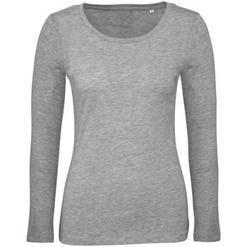Textil Mulher T-shirt mangas compridas B And C TW071 Sport Grey