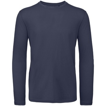 Textil Homem T-shirt mangas compridas B And C TM070 Marinha Urbana