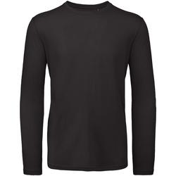 Textil Homem T-shirt mangas compridas B And C TM070 Preto