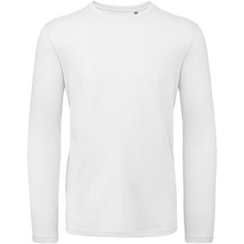 Textil Homem T-shirt mangas compridas B And C TM070 Branco