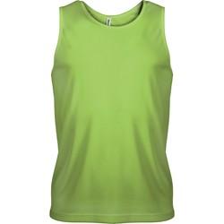 Textil Homem Tops sem mangas Proact Débardeur  Sport vert fluo